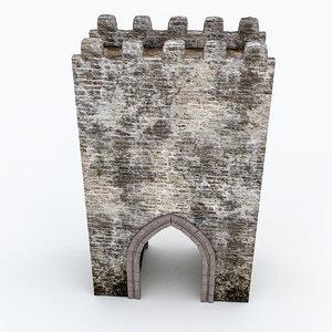 3D model castle gate