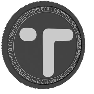 3D model black coin