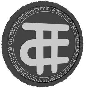 tokenclub black coin 3D