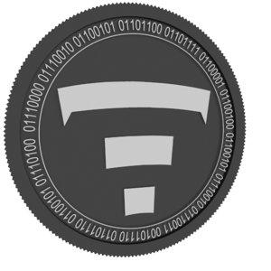 tierion black coin 3D model