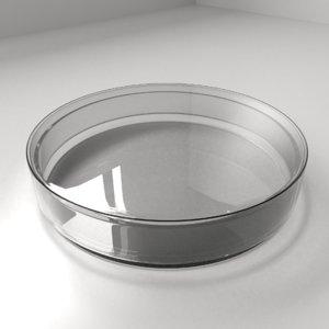 3D model glass petri dish