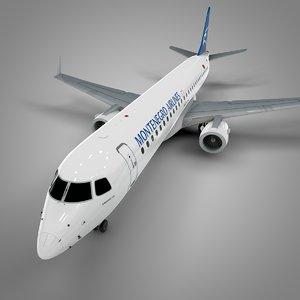 montenegro embraer195 l687 3D model