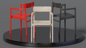 3D post chair wood
