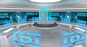 sci fi room 3D