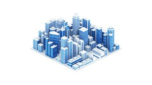 city abstract 3D model