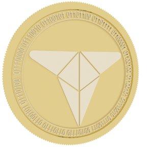 trade tokenx gold coin 3D model