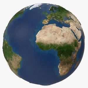 3D artistic topographic globe