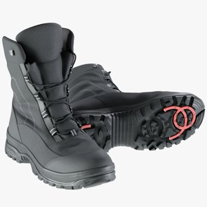 3D realistic men winter boots