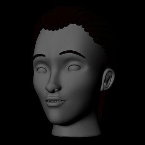 3D vampire head