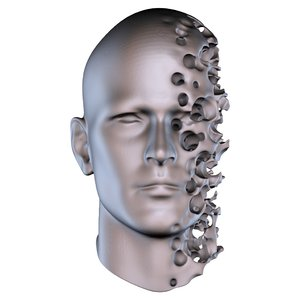 abstract head 3D model