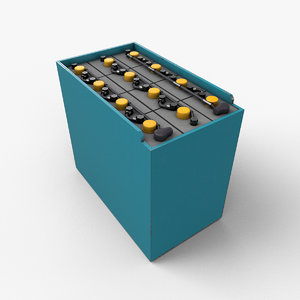 3D forklift battery model