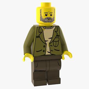 3D realistic lego figure model