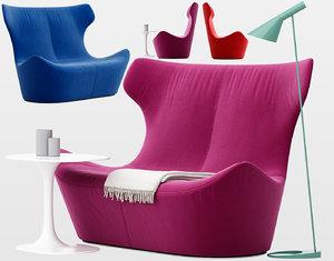 3D love papilio sofa b