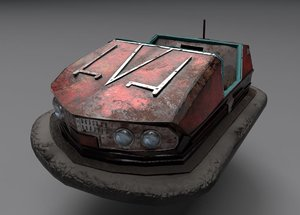 3D model abandoned pripyat bumper car-dodgem