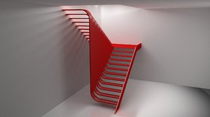 3D model stairs flow