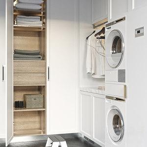 laundry dryer asko 3D model