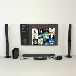 electronics tv 3D model