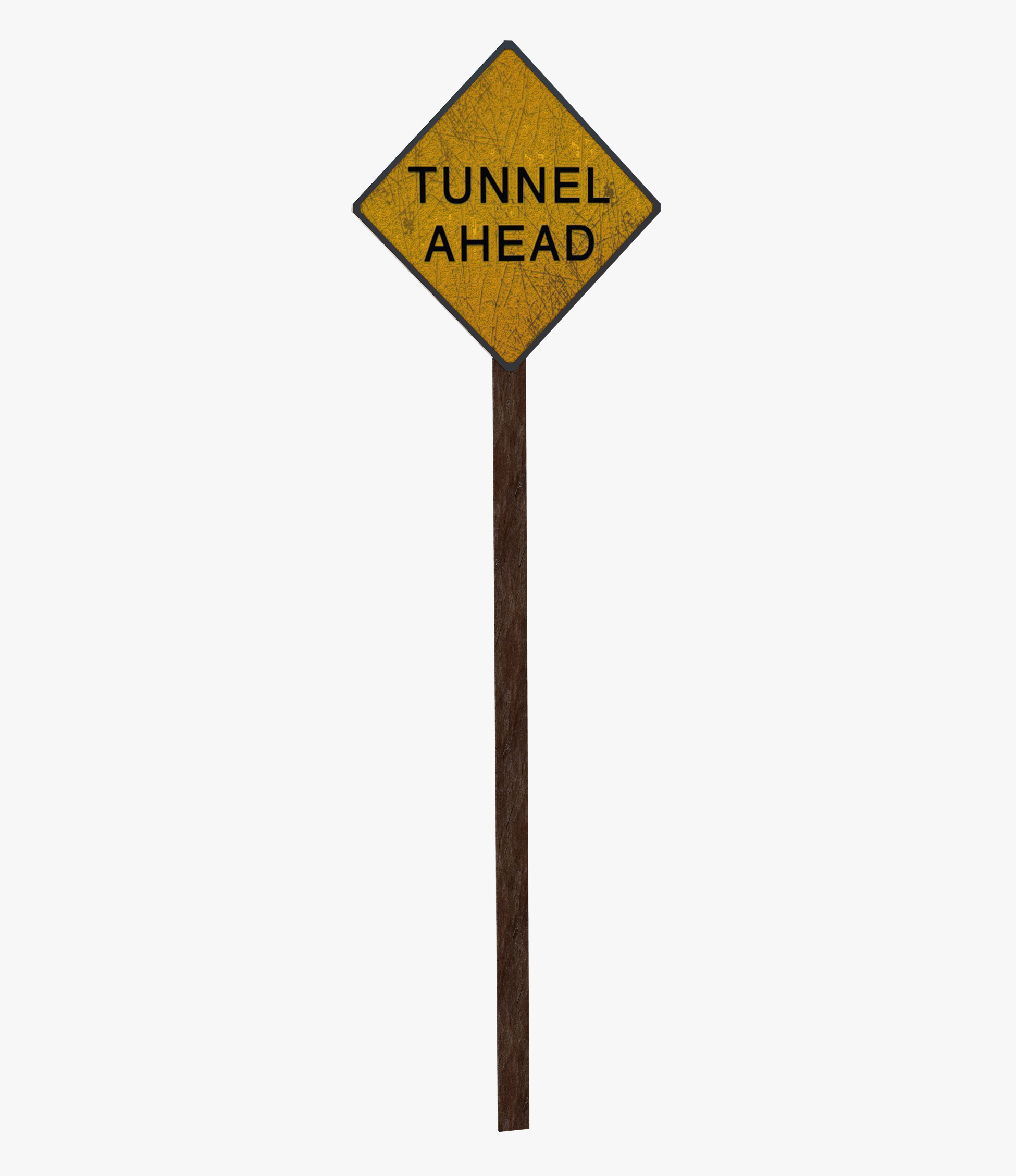sign tunnel signal 3D model