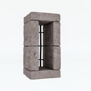 old stone window model
