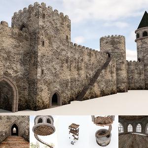 modular castle pack 3D