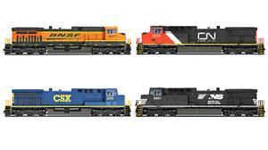 3D locomotive csx norfolk