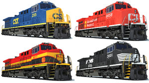 3D locomotive csx canadian