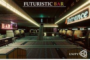 bar futuristic 3D model