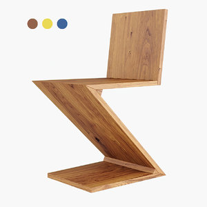 zig zag chair model