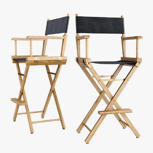 3D directors chair los