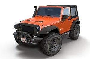 3D jeep wrangler 2012 car model