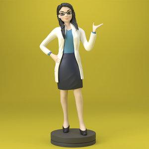 doctor printing 3D model