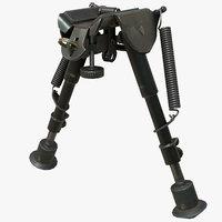 rifle bipod rig 3D model