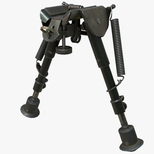 rifle bipod rig 3D model