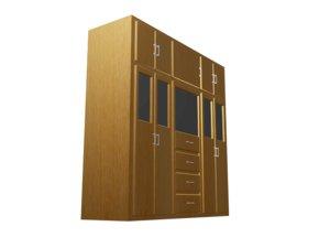 closet wood divisions 3D model