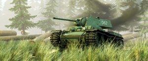 3D model kv-1 heavy soviet tank