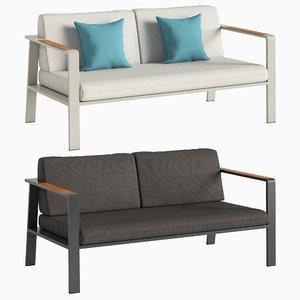 3D double sofa nofi model