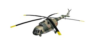 mi-8 russian military helicopter 3D