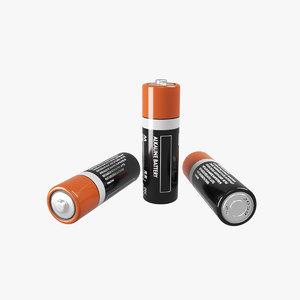 battery alcaline 3D model