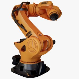 3D rigged kuka kr 1000 model