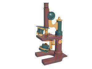 3D model vintage microscope