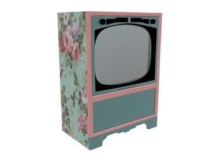 3D model tv vintage