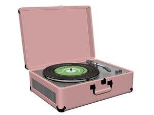 cd vinyl disk 3D model