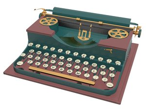 3D typewriter type machine