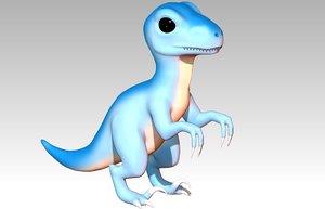 3D baby raptor