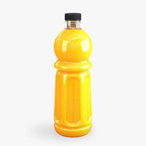 3D model orange bottle