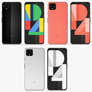 3D 3 colors google pixel