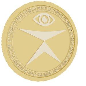 tratin gold coin 3D model