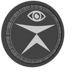3D tratin black coin model