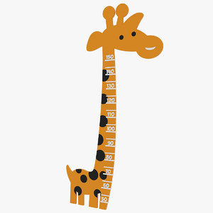 3D model stadiometer giraffe
