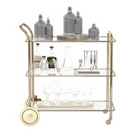 Terrace bar cart trolley